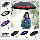 C-Handle Big Double Layer Upside Down Inverted Umbrella Reverse Design Windproof