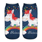 1Pair Cartoon Animation Unicorn Print Socks Women Cotton Casual Funny Cozy Socks