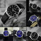 Fashion Leather Strap Band Date Analog Quartz Sport Mens Womens Wrist Watch