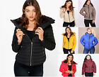 New Womens Ladies ZARA Quilted Padded Puffer Bubble Fur Collar Warm Thick Jacket