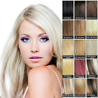 "7PCS Clip In Remy Human Hair Extensions Any Colors US Full Head Set 15""18""20""22"""