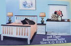 Brand New Solid Wood Modern Timber Queen/King Size Bed Bedroom Suite 4 Pieces