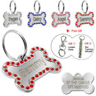 Personalised Dog Tags Bone Engraved Pet Puppy ID Tag Stainless Steel Custom Free