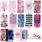 Fashion Flip Pattern Hybrid Stand PU Leather Cover TPU Case Wallet For Lot Phone