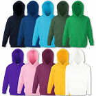 Fruit of the Loom Kinder Kapuzenpullover Hoodie Sweatshirt 116 128 140 152 164