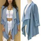 Women's Slim Long Coat Jacket Trench Windbreaker Parka Outwear Cardigan New
