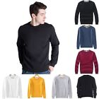 Unisex Men Solid Sweatshirt Tops Long Sleeve Fleece Crew Neck Pullover Sweater