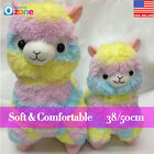 Alpacasso Vicugna Pacos Soft Stuffed Plush Alpaca Doll Toy Rainbow Doll 38/50cm