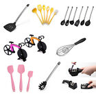 Kitchen Utensil Set Ladle Slotted Turner Pasta Server Whisk Spatula Pizza Cutter