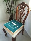 """Large Size Faux Linen Dining Chair Cushion Pad 18x18"""" in 2.7"""