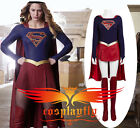 TV Supergirl Kara Danvers Suit Dress Cosplay Costume Adult With Outfit Cape