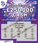 Fake Joke Winning Lottery Scratch Cards -Put 1 in BIRTHDAY CARDS as a gift 4 Fun