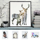 Canvas Prints Retro Home Decor Wall Art Picture Painting Poster -Deer Minimalist