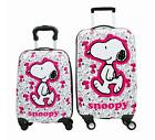 """Super Cute Snoopy Peanuts 18"""" 20"""" Kid's Girls Hard Side Luggage Trolley Carry On"""