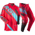 NEW ANSWER RACING A17 SYNCRON RED TEAL ADULT RACE GEAR COMBO JERSEY PANTS MX