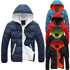 Men's Slim Casual Warm Jacket Hooded Winter Thick Coat Parka Overcoat Hoodie LKL