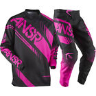 NEW ANSWER RACING A17 SYNCRON BLACK PINK WOMENS RACE GEAR COMBO JERSEY PANTS MX