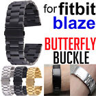 Stainless Steel Butterfly Buckle Watchband Replacement Band for FITBIT BLAZE NEW