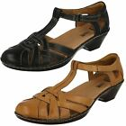 Ladies Clarks Wendy Loras T-Bar Leather Shoes