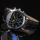 Men's Business Leather Quartz Watch Stainless Steel Sport Army Casual Wristwatch