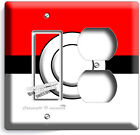 INSPIRED BY POKEMON RED POKE BALL LIGHT SWITCH OUTLET WALL PLATE ROOM HOME DECOR