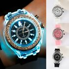 Fashion Flash Diamond Led Luminous Personality Harajuku Women And Men Wristwatch