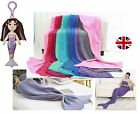 Mermaid Tail Crocheted Cocoon Sofa Beach Quilt Rug Knit Lapghan Adult Blanket