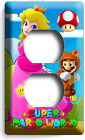 SUPER MARIO PRINCESS PEACH LIGHT SWITCH OUTLET WALL COVER PLATE GIRLS GAME ROOM