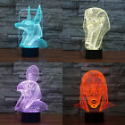 Mysterious Egyptian Pyramid Pharaoh 3D Led Lamp Bed Bedside USB Night Lights