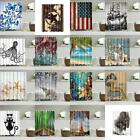 Nature Scenery Water Resistant Bathroom Shower Curtain Panel Decor With 12 Hooks