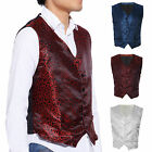 Quality Swirl Wedding Formal Waistcoat Mens Waistcoat Chest Vest
