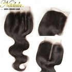 "4*4Lace Closure Free/Middle/Three Part Indian Body Wave Human Virgin Hair10""-20"""