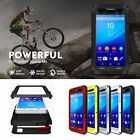 New Water/Shock/Dustproof Dual Aluminum Metal Case+Tempered Glass Cover for Sony