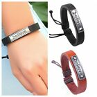 Cool Mens Believe Print Unisex Braid Bracelet Girl String Band Bangle Wristband
