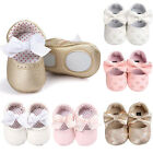 Внешний вид - Newborn Baby Girl Soft Sole Leather Crib Shoes Anti-slip Sneaker Prewalker 0-18M