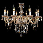 PAS Crystal Candle Pendant Lamp European Classical Bedroom Lighting Chandelier