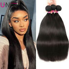 UNice Brazilian Virgin Hair Straight 3 Bundles 8A Straight Human Hair Extensions