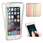 New Shockproof 360° Silicone Protective Clear Case Cover For Apple iPhone 7 6S