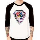 Diamond-Galaxy#2 space cosmic pop design Baseball t-shirt 3/4 sleeve Raglan Tee