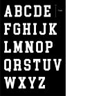 """Jersey Heat Transfer Iron on White color """" 7 Inch Big Sports Alphabet """""""