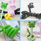 Cute Silicone Rubber Cable Cord Earphone Headset Wire Organizer Holder Winder