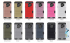 10pcs/lot Wire Drawing PC+TPU Hybrid Case Armor Card Hard Cover For Samsung