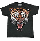 Men's Tiger Face t-shirt animal lion Gray Jungle Animal wildlife