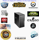 AMD A10 Quad Core 8GB 1TB R7 Custom Desktop Computer System Gaming PC Windows 10
