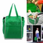 Reusable Shopping Bags Eco Foldable Trolley Tote Grocery Clip Cart Storage Bag