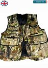 New Falconry Hunting & Hawking Camo Waistcoat, Jungle Wild Full Vest, XXL & XXXL