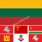 Lithuania Flag 3X5FT Lithuanian SSR Naval Jack Army Red Shield President