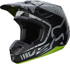 New FOX Racing MX Motocross Adult Helmet 2017 V2 Nirv Grey Yellow