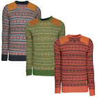 Soulstar Mens Wine Knitted Jumper Long Sleeved Warm Adults Chunky Knit Sweater