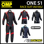 IA01852 OMP ONE S1 RACE SUIT ULTRA LIGHTWEIGHT PROFESSIONAL MOTORSPORT RACING